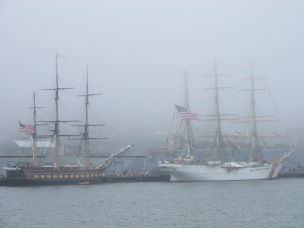 Tall Ships in the Portland mist.