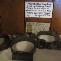 Relics picked up by the soldiers included these slave shackles.