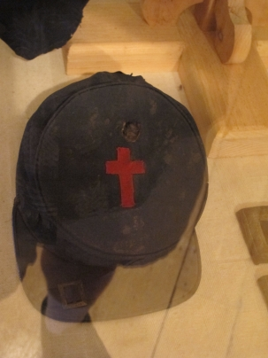 The kepi Bicknell was wearing when he was wounded.
