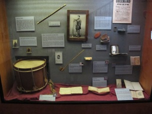 A collection of Civil War artifacts at the State Museum.