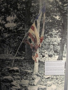 An image of the flag on Little Round Top in 1882.
