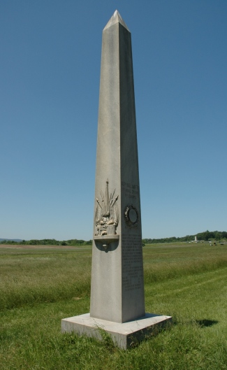 The 16th Maine's monument on Oak Ridge. (Tom Huntington photo).