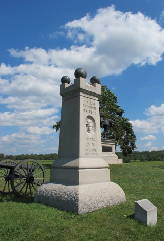 The battery's monument on the Chambersburg Pike (Tom Huntington photo).