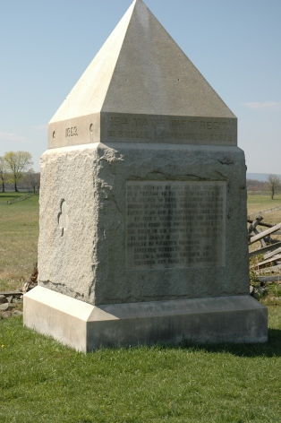 The 19th Maine's monument on Cemetery Ridge at Gettysburg (Mark Allison photo).