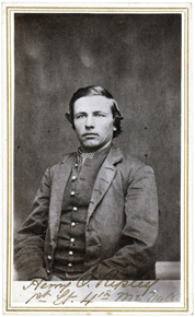 Henry O. Ripley, who served as the regiment's color bearer during the fight (Maine State Archives).