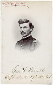Geroge W. Verrill was a lieutenant with the 17th Maine at Gettysburg.