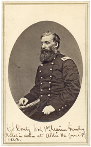 Col. Calvin Douty led the 1st Maine Cavalry at Brandy Station. He was killed on June 17 at Aldie.