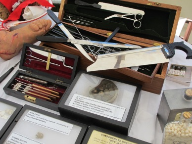 A collection of Civil War medical instruments (Tom Huntington photo).