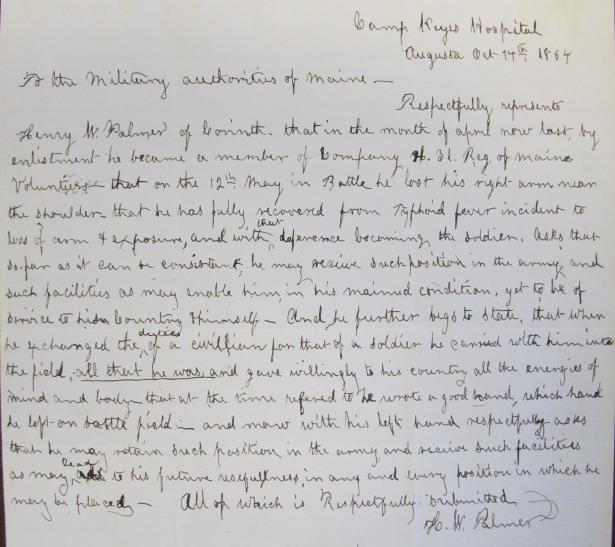Palmer letter